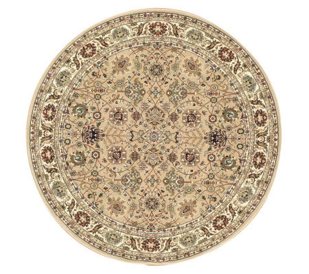"Rugs America New Vision Tabriz 5'3"" Round Rug"