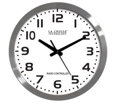 "La Crosse WT-3161WH 16"" Atomic Analog Wall Clock"