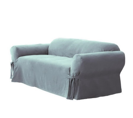 Sure Fit Soft Suede Box-Cushion Love Seat Slipcover