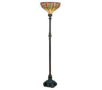 "Tiffany Style 69""H Dublin Torchiere Floor Lamp - H181248"