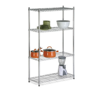Honey-Can-Do Four-Tier Chrome Storage Shelves -200 lbs - H184048
