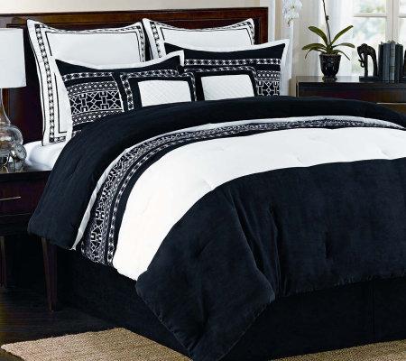 Fair Isle Queen 8-Piece Comforter Set — QVC.com