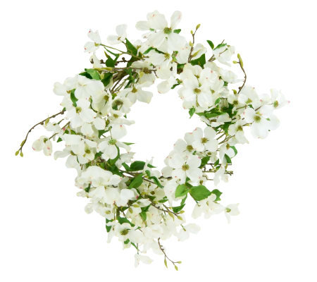 24-inch Dogwood Wreath by Valerie