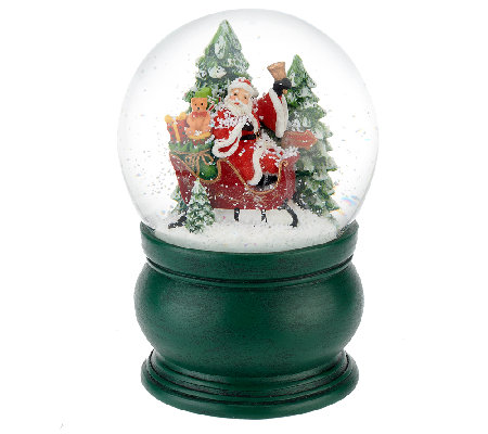 Holiday Scene Snowglobe with Blowing Snow by Valerie