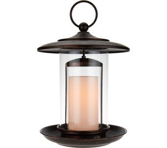 "Candle Impressions 12"" Birdfeeder with Flameless Candle - H205248"