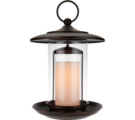 "Candle Impressions 12"" Birdfeeder with Flameless Candle"