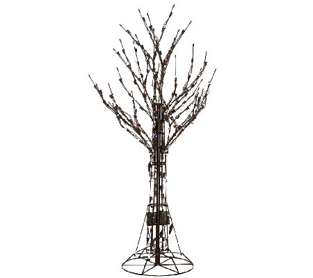 Santa's Best 4' All-Season Prelit Brown Wire Tree with RGB Technology