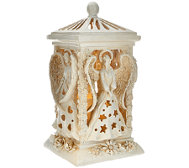 Four Sided Illuminated Angel Lantern by Home Reflections