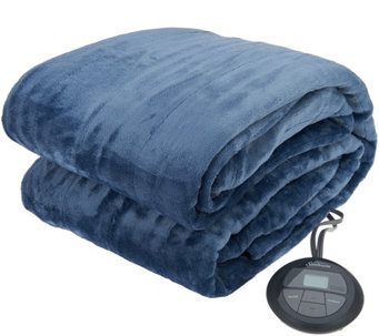 Sunbeam Velvet Plush Twin Heated Blanket - H209548