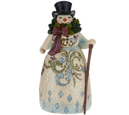 Jim Shore Victorian Christmas Snowman Figurine
