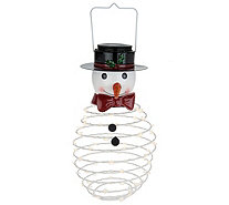 Plow & Hearth Indoor/Outdoor LED Swirl Springy Holiday Lantern - H213248