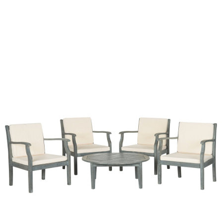 Safavieh Anaheim 5-Piece Outdoor Coffee Set