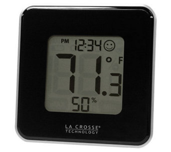 La Crosse Technology 302-604B Black Thermometer& Hygrometer - H356348