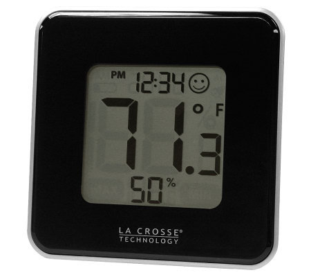 La Crosse Technology 302-604B Black Thermometer& Hygrometer