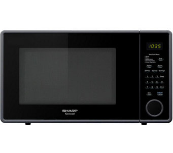 Sharp Mid-Size 1.1 Cu. Ft. 1000W Microwave Oven- Smooth Black - H358648