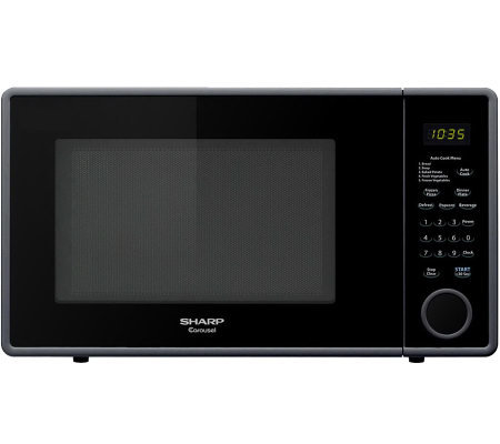 Sharp Mid-Size 1.1 Cu. Ft. 1000W Microwave Oven- Smooth Black