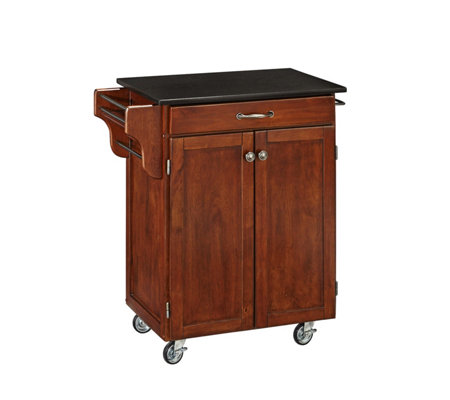 Home Styles Create-A-Cart Cherry Base w/ BlackGranite Top Sm