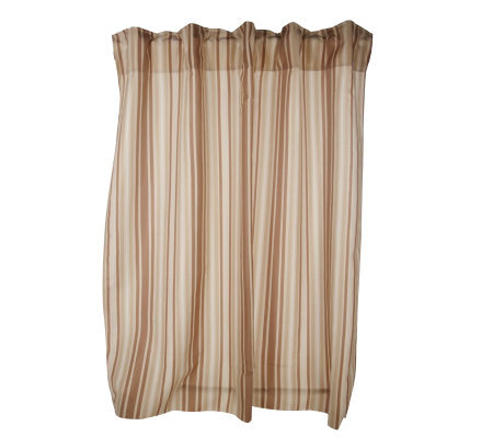 Hookless Hidden Ring Striped Shower Curtain Page 1