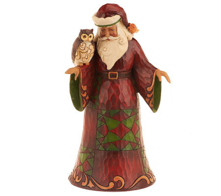 Jim Shore Heartwood Creek Santa with Owl Figurine