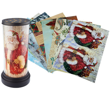 Kringle Express Seasonal Photo Lamp with 16 Inserts