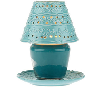 Temp-tations Vintage Grace Ceramic Shade and Plate - H205249
