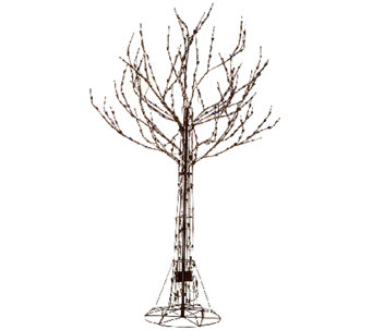 Santa's Best 7' All-Season Prelit Brown Wire Tree with RGB Technology - H205349