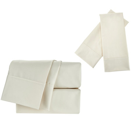 Northern Nights 420TC Wrinkle Defense Sheet Set w/ Extra Pillowcases