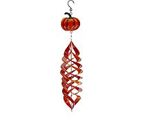 Plow and Hearth Hanging Metal Wind Spinner with Harvest Design - H211649