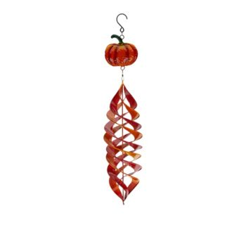 Plow and Hearth Hanging Metal Wind Spinner with Harvest Design
