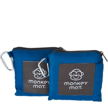 Set of 2 Monkey Mats Portable Floor Mat with Pouch by Lori Greiner