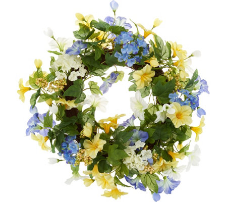 Morning Glory Wreath by Valerie