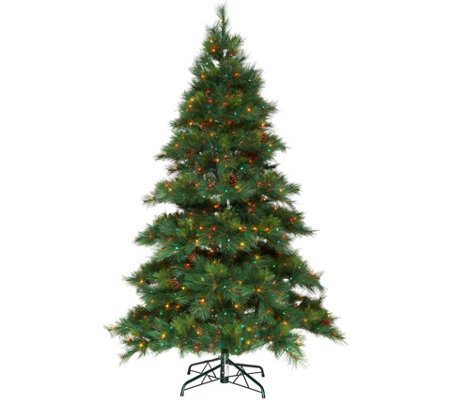 """As Is"" Bethlehem Lights 6.5' Prelit Pine Tree"