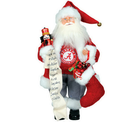 "15"" College Santa with Nutcracker by Santa's Workshop"