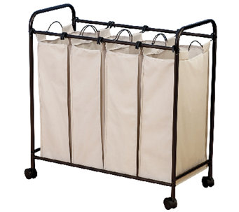 Household Essentials Bronze Rolling Quad SorterHamper - H282649