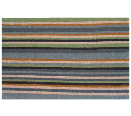 Geo Crafts Striped Coco Door Mat