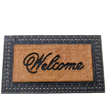 Geo Crafts Rubber-Backed Flat Weave Coco Welcome Mat - H286449