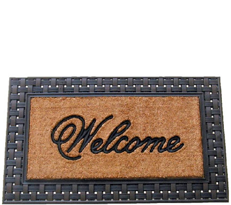 Geo Crafts Rubber-Backed Flat Weave Coco Welcome Mat