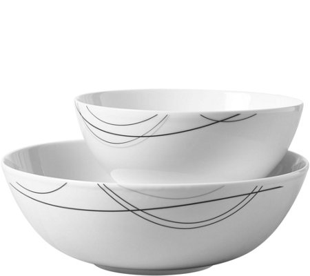 Tabletops Gallery 2-Piece Round Serving Bowl Set - Alec