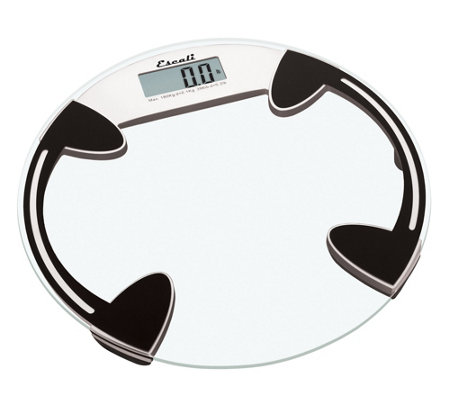 Escali Glass Platform Bathroom Digital Scale 400 lb - Round