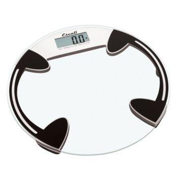 Escali Glass Platform Bathroom Digital Scale 400 lb - Round