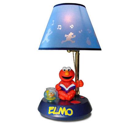 Sesame Street Elmo Animated Lamp Qvc Com