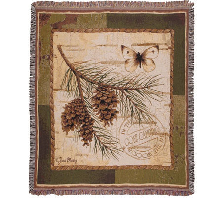 Pinecone Branch Throw by Simply Home