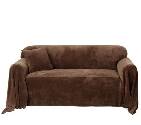 Sure Fit Plush Sofa Throw Cover Page 1 QVCcom