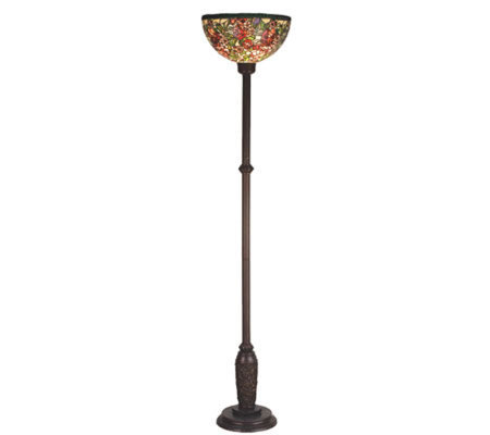"Tiffany Style 70-1/2""H Romance Rose Torchiere Floor Lamp"