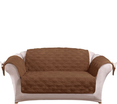 Sure Fit Corduroy Loveseat Furniture Cover