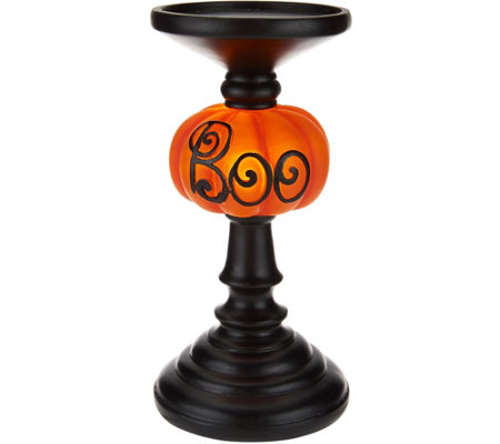 "9"" Illuminated ""BOO"" Candlestick"