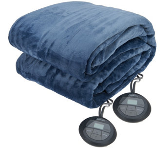 Sunbeam Velvet Plush Queen Heated Blanket - H209550