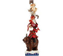 Jim Shore Heartwood Creek Stacked Santa with Animals Figurine - H209650