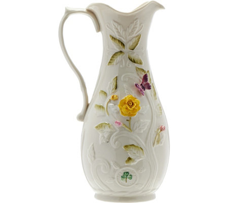 Belleek Rose Isle Garden Pitcher