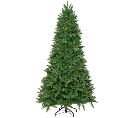 """As Is"" Santa's Best 7.5' Starry Light Microlight Tree w/Flip LEDs"